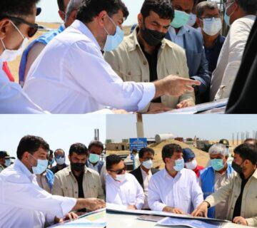 بازدید استاندار سیستان و بلوچستان از پروژه های شهر جدید تیس